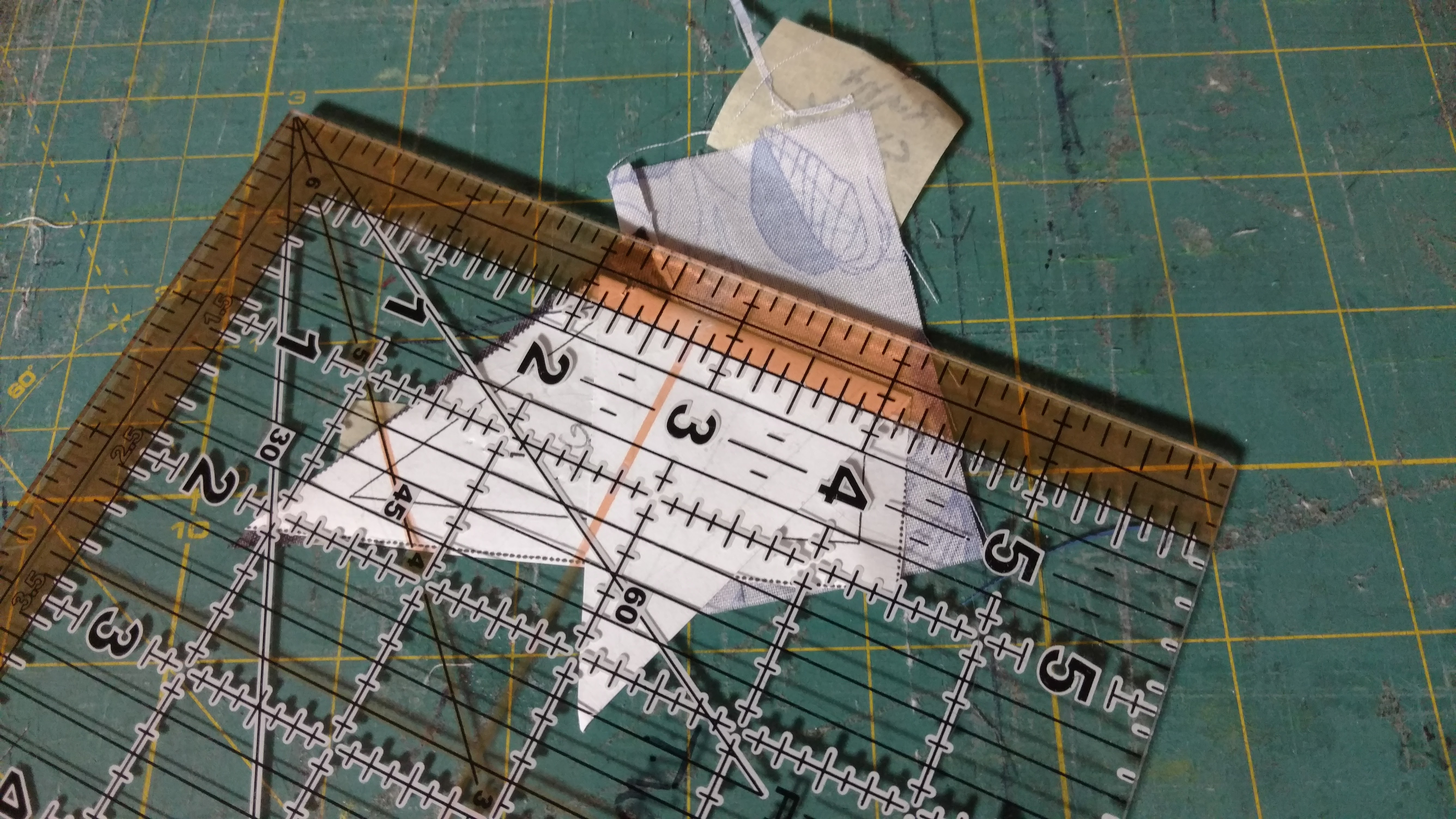 Background image align - Grab Fabric For Section 4 Background And Line It Up With The Freshly Cut Seam Remember Pretty Sides Together Pin In Place